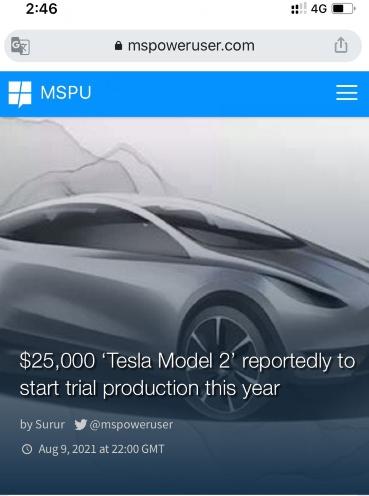 特斯拉Model2要来了售16万